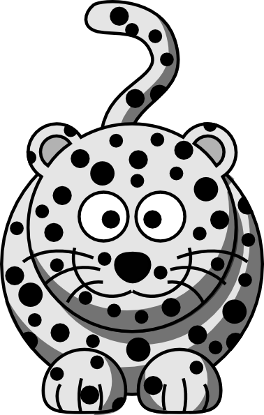 Cartoon snow leopard - photo#1