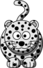 Cartoon Snow Leopard  Clip Art
