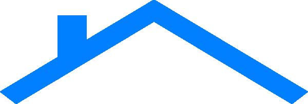 Roof Clip Art : Blue house roof clip art at clker vector