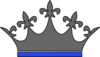 Queen Crown Gray Blue Clip Art