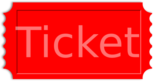 red ticket stub clip art at clker com vector clip art online rh clker com vintage ticket stub clipart