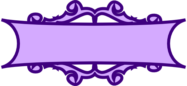 purple banner scroll clip art at clker com vector clip art online