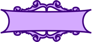 Purple Banner Scroll Clip Art