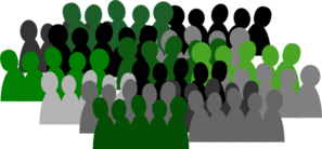 Green Crowd Clip Art