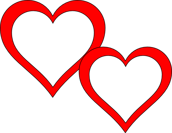 Two Hearts Touching Clip Art at Clker.com - vector clip art online ...