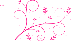 Hot Pink Swirls Not Cutoff Clip Art