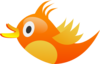 Orange Tweet Bird Clip Art