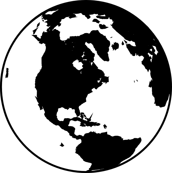 White And Black Globe Clip Art at Clker com - vector clip art online    World Clipart Black And White