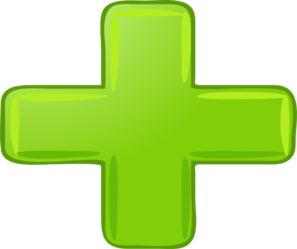 Small Green Plus Sign Clip Art