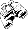 Enlarged Binoculars Clip Art