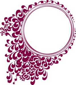 Cranberry Filligree Frame Clip Art