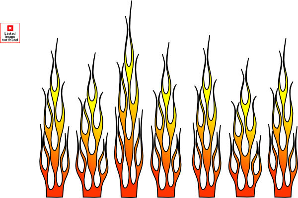 Racing Flames Clipart images