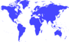 World Map Blu Cina Clip Art