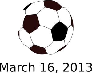 Soccer Ball With Date Clip Art