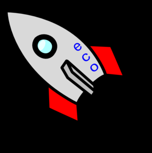 Rocket W/ No Flame Clip Art
