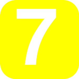 number 7 yellow clip art at clker com vector clip art online rh clker com  number 7 clipart black and white