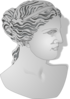 Roman Female Profile Statue Clip Art