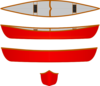 Red Canoe, Multiple Views Clip Art