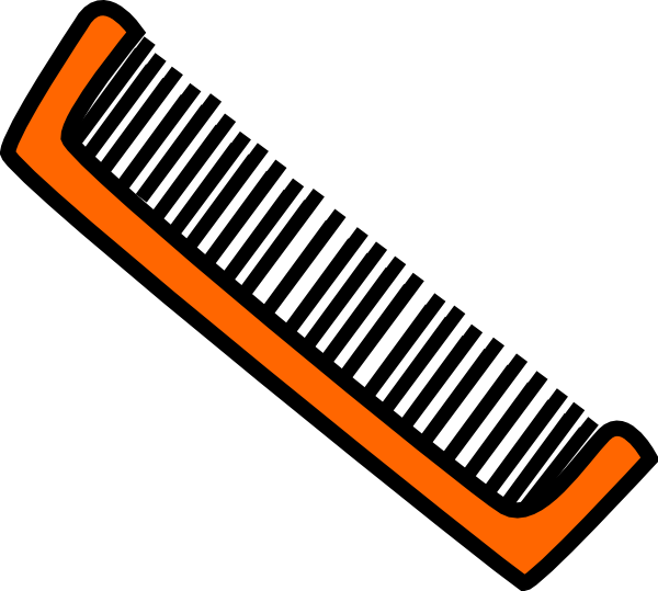 orange comb clip art at clkercom vector clip art online