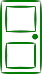 Door Green Clip Art