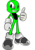 Green Alien4 Clip Art