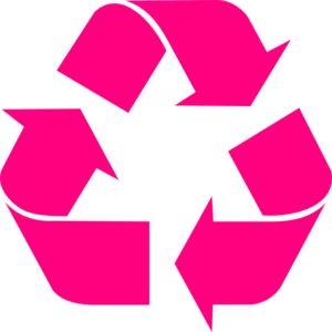 Recycling-pink Clip Art