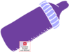 Baby Bottle Purple Clip Art