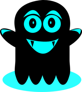 Blue And Black Ghost Clip Art