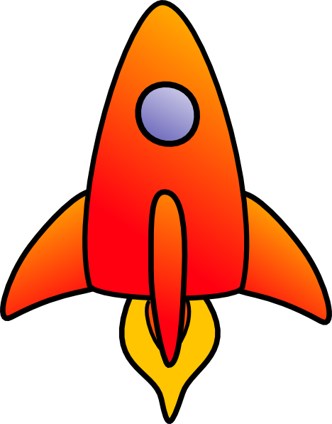 vertical rocket clip art at clkercom vector clip art