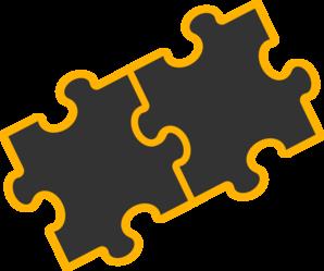 Puzzle Pieces Black Clip Art