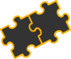 Puzzle Pieces Black Clip Art