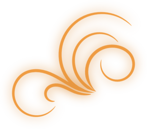Orange Glowing Flourish Clip Art