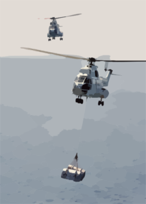 An Sa-330 Puma Helicopter Carries Supplies From Military Sealift Command Ship, Usns Saturn (tafs 10) Over To The Aircraft Carrier Uss Enterprise (cvn 65) During A Replenishment At Sea (ras) Clip Art