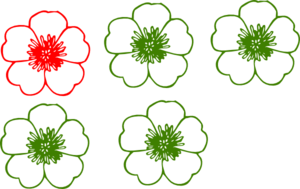 Cream Buttercup Flower2 Clip Art
