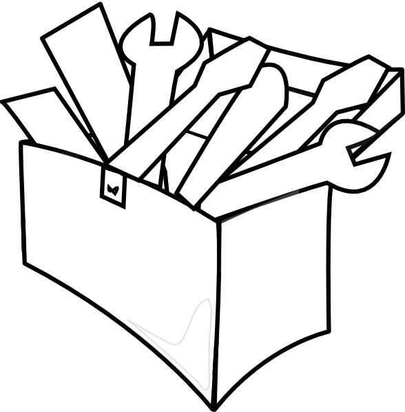 White Tool Box Clip Art at Clker.com - vector clip art ...