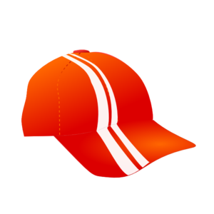Cap With Racing Stripes Clip Art