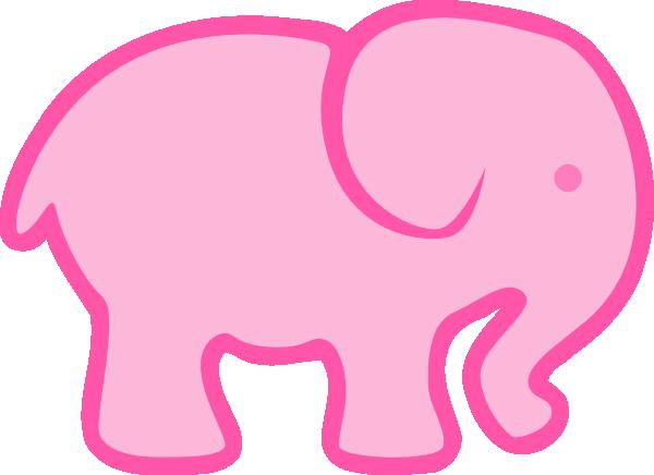 clip art pink elephant - photo #1