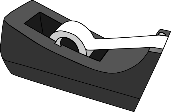 tape dispenser clip art at clkercom vector clip art