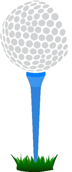 Golf Ball Blue Tee Clip Art at Clker.com - vector clip art ... Golf Ball On Tee Clipart