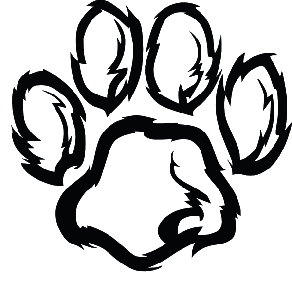 wildcat paw plain clip art at vector clip art online royalty free public domain. Black Bedroom Furniture Sets. Home Design Ideas