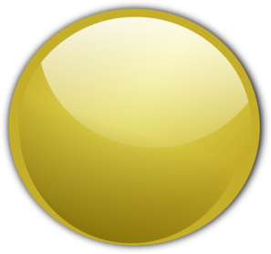 Gold Circle Button Clip Art