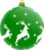 Reindeer Ornament Clip Art
