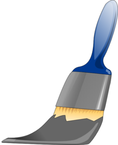 Paintbrush Grey Clip Art