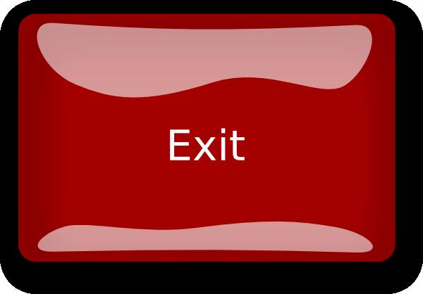 Public Exit Button Clip Art at Clker.com - vector clip art ...