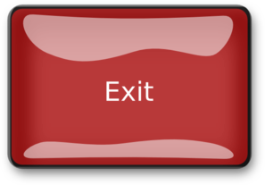 The gallery for --> Exit Button Png