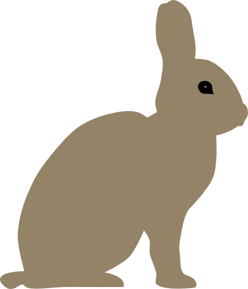 clipart image bunny silhouette - photo #23