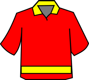 Club Shirt Red/yellow Clip Art
