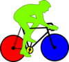 Colourful Cycle  Clip Art