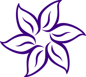 Flower  on Purple Flower Outline Clip Art   Vector Clip Art Online  Royalty Free