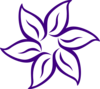 Purple Flower Outline Clip Art